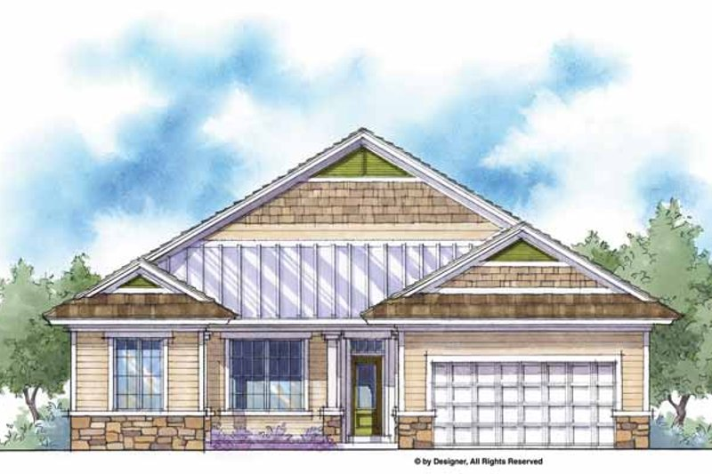 House Plan Design - Country Exterior - Front Elevation Plan #938-2