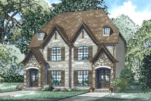 European Exterior - Front Elevation Plan #17-3400