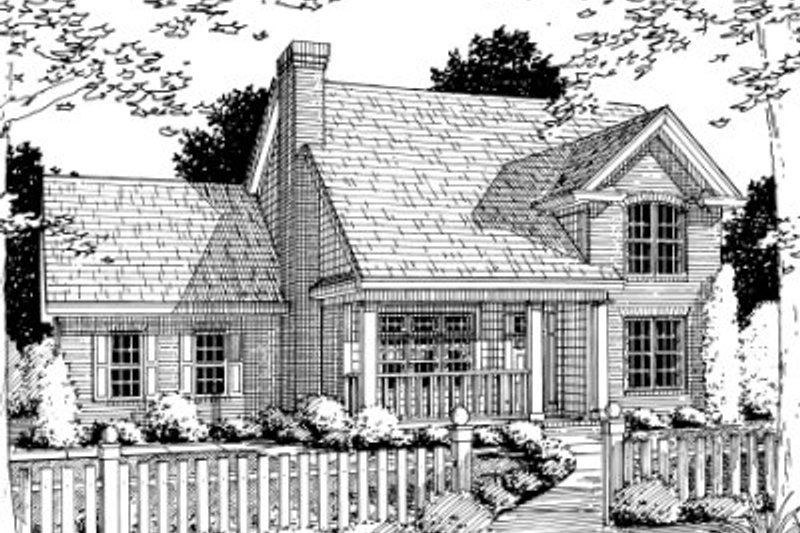Home Plan - Traditional Exterior - Front Elevation Plan #20-353