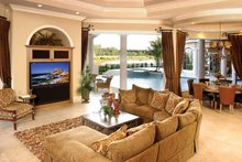 Dream House Plan - Mediterranean Interior - Family Room Plan #1017-1