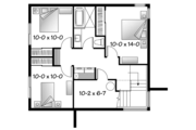 Contemporary Style House Plan - 3 Beds 1.5 Baths 1587 Sq/Ft Plan #23-2537 Floor Plan - Lower Floor Plan