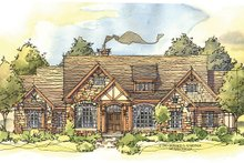 Dream House Plan - Craftsman Exterior - Front Elevation Plan #929-931