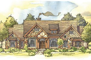 Craftsman Exterior - Front Elevation Plan #929-931