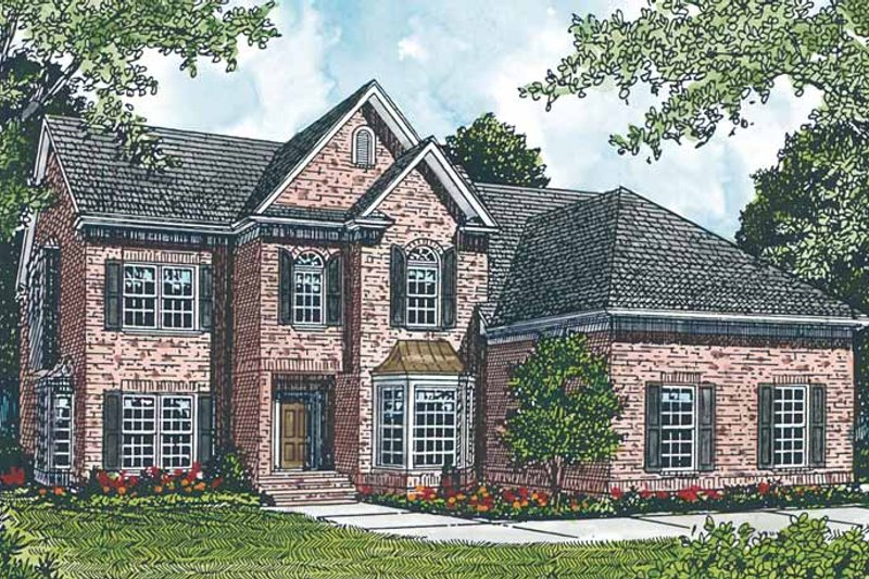 Colonial Exterior - Front Elevation Plan #453-270