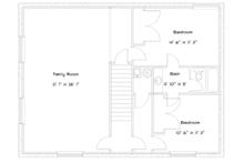 Cabin Floor Plan - Lower Floor Plan Plan #1060-24