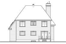 Home Plan - European Exterior - Rear Elevation Plan #23-2579