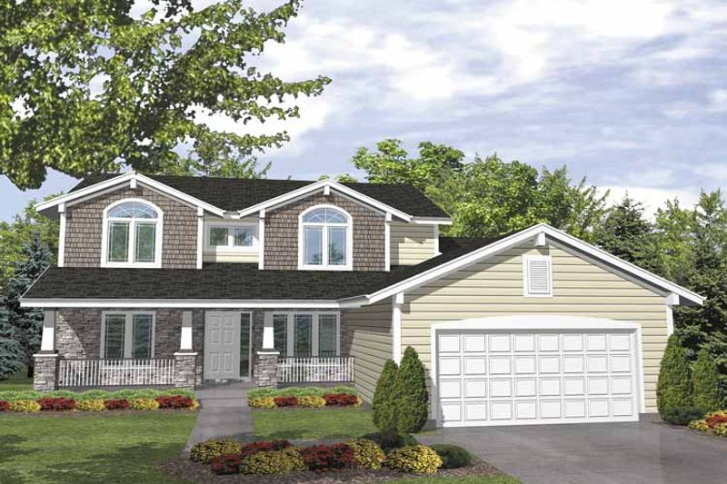 Country Exterior - Front Elevation Plan #320-836 - Houseplans.com