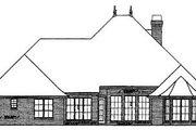 European Style House Plan - 4 Beds 3.5 Baths 2998 Sq/Ft Plan #310-322 Exterior - Rear Elevation