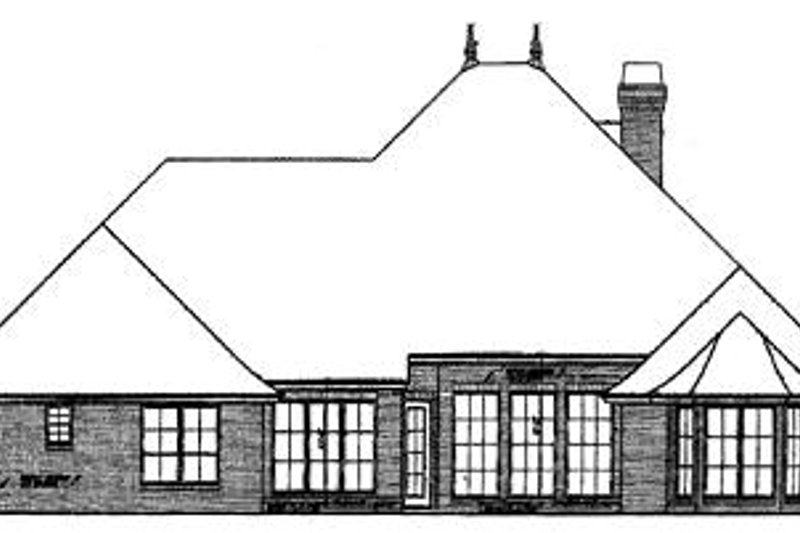 European Exterior - Rear Elevation Plan #310-322 - Houseplans.com