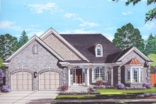 Architectural House Design - Colonial Exterior - Front Elevation Plan #46-866