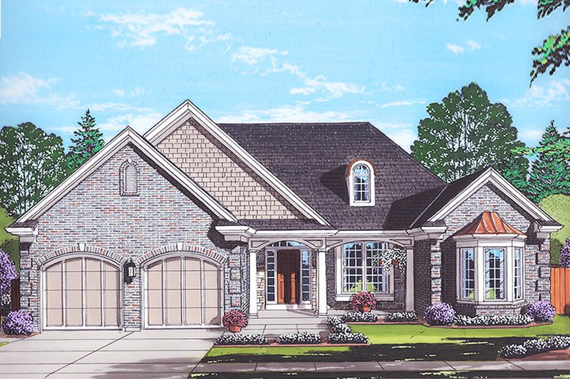 Dream House Plan - Colonial Exterior - Front Elevation Plan #46-866