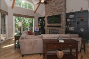 Craftsman Style House Plan - 4 Beds 3.5 Baths 3132 Sq/Ft Plan #929-407 Interior - Family Room