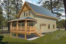 Home Plan - Bungalow Exterior - Front Elevation Plan #117-543
