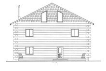 Log Exterior - Rear Elevation Plan #117-822