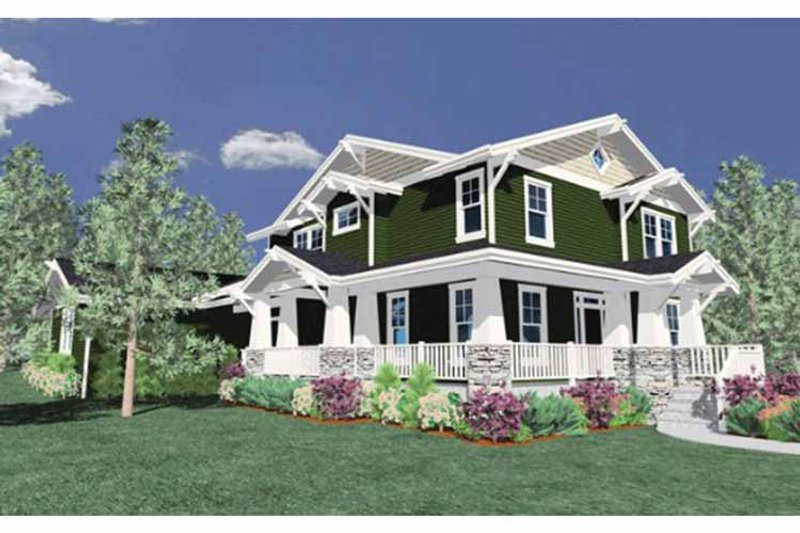 Traditional Exterior - Front Elevation Plan #509-156 - Houseplans.com