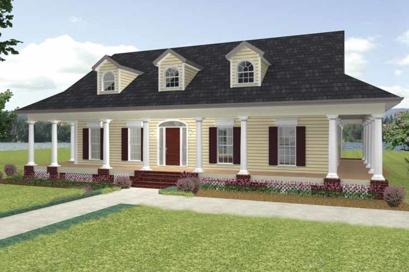 Country Exterior - Front Elevation Plan #44-210