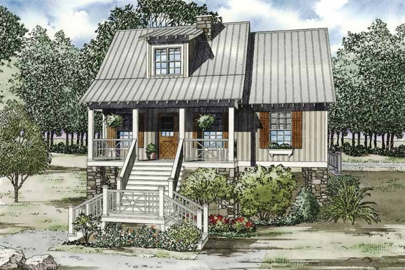 Country Exterior - Front Elevation Plan #17-3286