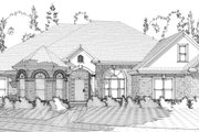 Traditional Style House Plan - 4 Beds 3 Baths 2767 Sq/Ft Plan #63-224 Exterior - Front Elevation