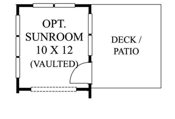 Colonial Floor Plan - Other Floor Plan Plan #1053-45