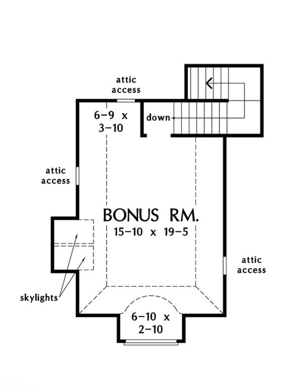 European Floor Plan - Other Floor Plan Plan #929-987