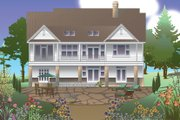 Traditional Style House Plan - 4 Beds 3.5 Baths 2872 Sq/Ft Plan #929-983 Exterior - Rear Elevation