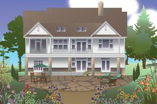 Traditional Exterior - Rear Elevation Plan #929-983