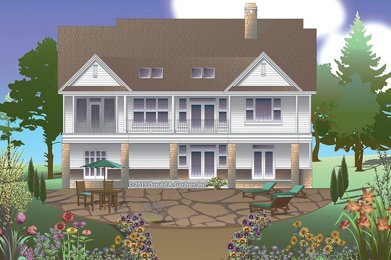 Traditional Exterior - Rear Elevation Plan #929-983 - Houseplans.com