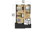 Contemporary Style House Plan - 3 Beds 1 Baths 1377 Sq/Ft Plan #25-4377 Floor Plan - Upper Floor Plan