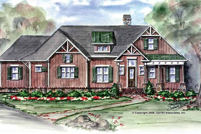 Country Exterior - Front Elevation Plan #54-272
