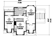 Country Style House Plan - 3 Beds 2 Baths 2249 Sq/Ft Plan #25-4709 Floor Plan - Upper Floor Plan