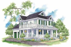 Country Exterior - Front Elevation Plan #930-394