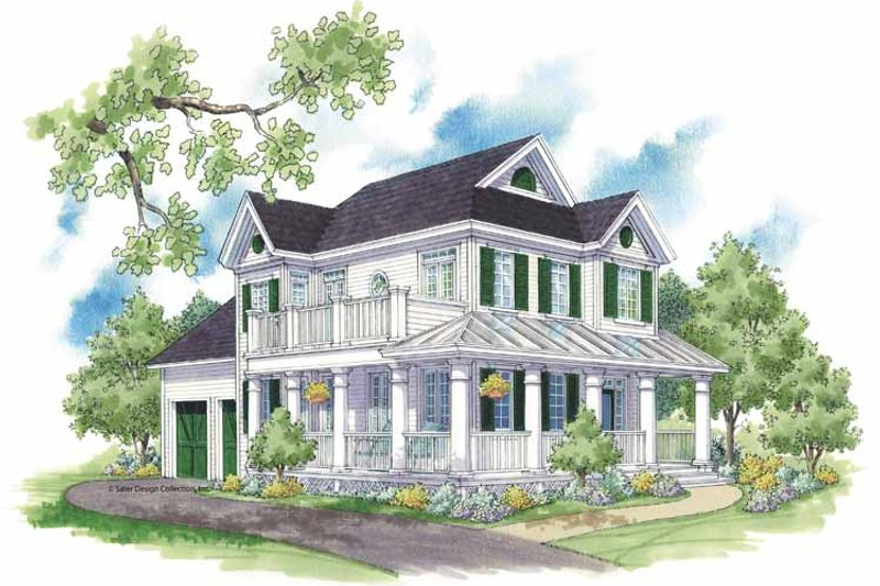 Dream House Plan - Country Exterior - Front Elevation Plan #930-394