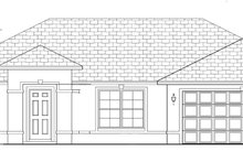 Architectural House Design - Mediterranean Exterior - Front Elevation Plan #1058-33