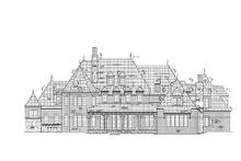 Home Plan - European Exterior - Rear Elevation Plan #453-597