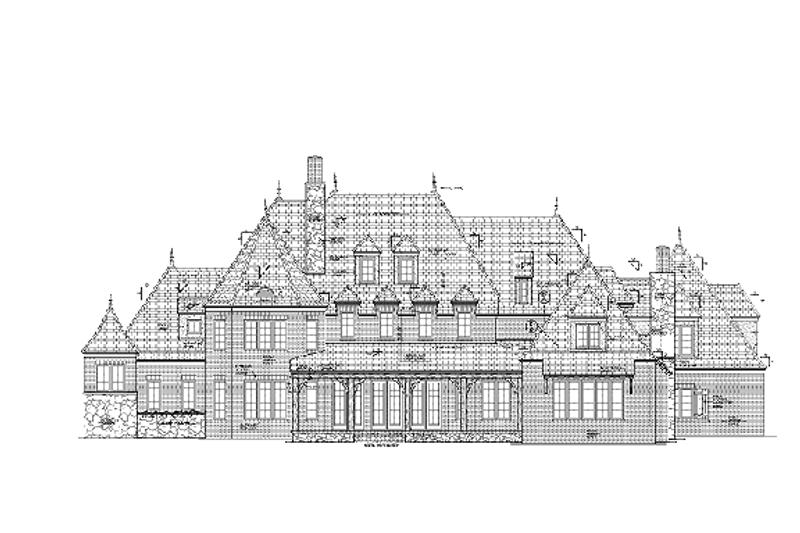 European Exterior - Rear Elevation Plan #453-597 - Houseplans.com