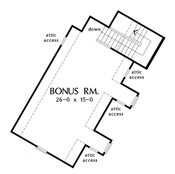 Cottage Floor Plan - Other Floor Plan Plan #929-992
