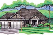 House Plan Design - European Exterior - Front Elevation Plan #51-965
