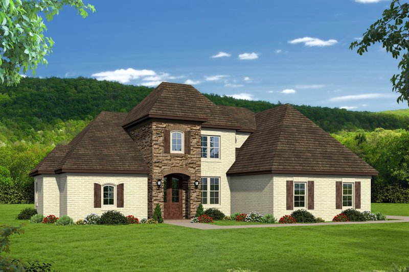 Home Plan - Country Exterior - Front Elevation Plan #932-277