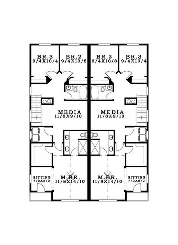 House Plan Design - Craftsman Floor Plan - Upper Floor Plan #943-38