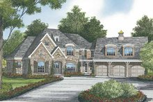 European Exterior - Front Elevation Plan #453-582