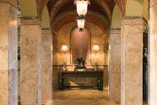 Architectural House Design - Mediterranean Interior - Entry Plan #453-604