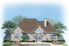 Architectural House Design - Ranch Exterior - Rear Elevation Plan #929-633