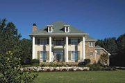 Colonial Style House Plan - 4 Beds 2.5 Baths 3342 Sq/Ft Plan #930-220 Exterior - Front Elevation
