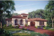 House Design - Mediterranean Exterior - Front Elevation Plan #930-12