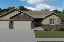 Architectural House Design - Ranch Exterior - Front Elevation Plan #1060-12