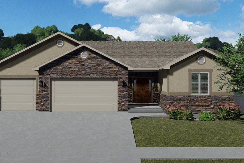 House Plan Design - Ranch Exterior - Front Elevation Plan #1060-12