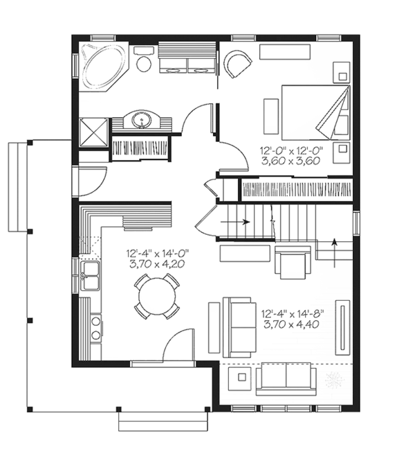Home Plan - Country Floor Plan - Main Floor Plan #23-2581