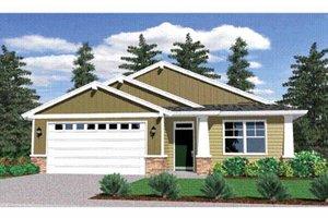 Architectural House Design - Prairie Exterior - Front Elevation Plan #509-166