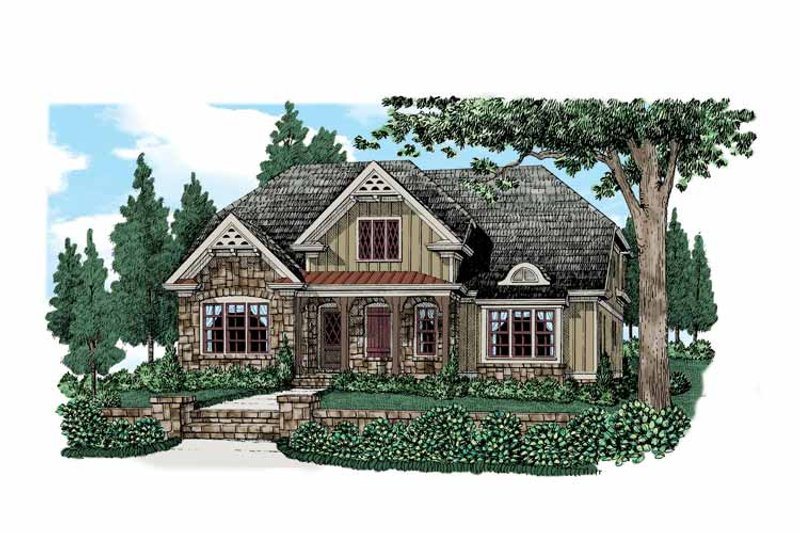 Country Exterior - Front Elevation Plan #927-522 - Houseplans.com