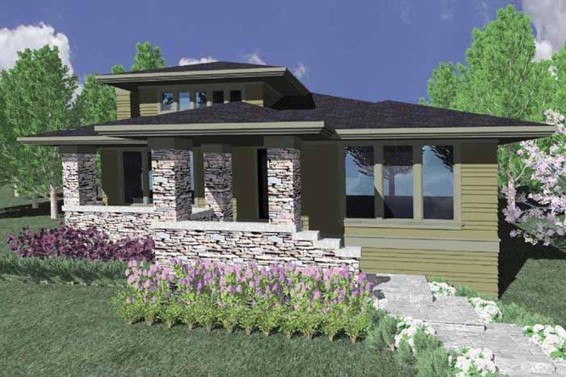 Prairie Exterior - Front Elevation Plan #509-172